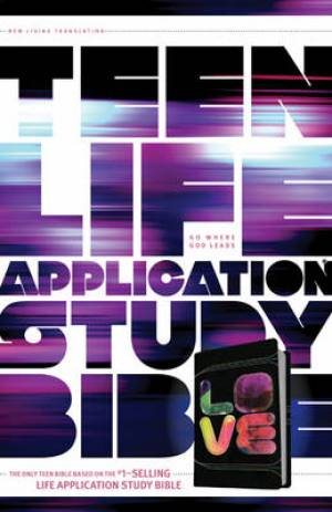 NLT Teen Life Application Study Bible: Black Tie-Dye, Leatherlike