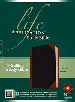 NLT Life Application Study Bible Leatherlike Black/Brown