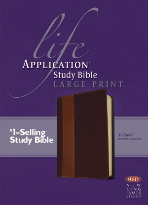 NKJV Life Application Study Bible: Brown Tan, Large Print, Tutone Imitation Leather