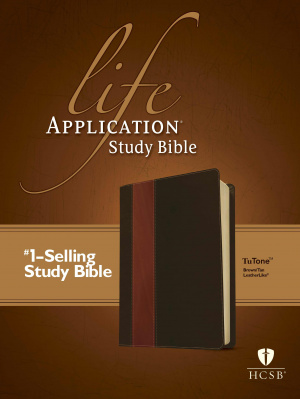 HCSB Life Application Study Bible: Brown/Tan, Imitation Leather