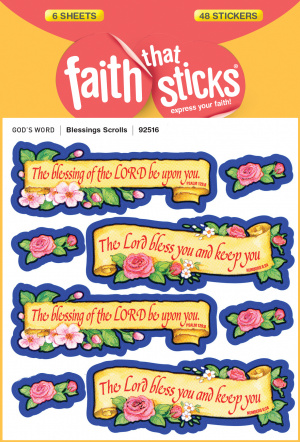 Blessings Scrolls Stickers