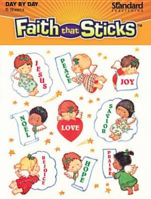 Peace and Joy Christmas Stickers