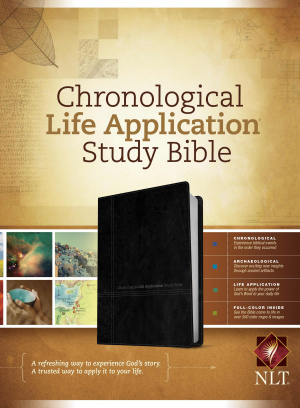 Chronological Life Application Study Bible NLT, TuTone, Black/Onyx