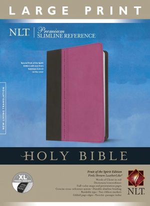 Premium Slimline Reference Bible NLT, Large Print TuTone, Thumb Index