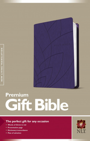 NLT Premium Gift Bible Purple Imitation Leather