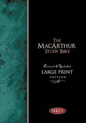 NKJV MacArthur Study Bible: Black, Bonded Leather, Large Print