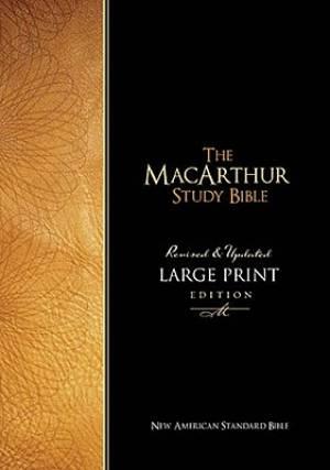 NASB MacArthur Study Bible: Black, Bonded Leather, Large Print, Thumb-Indexed