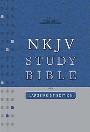 NKJV Study Bible: Burgundy, Bonded Leather, Large Print, Thumb Index