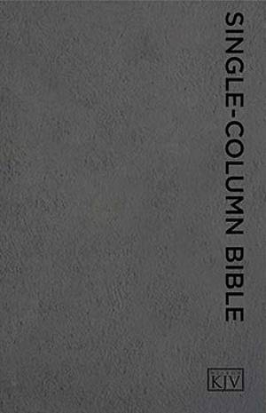 Single-Column Bible-KJV