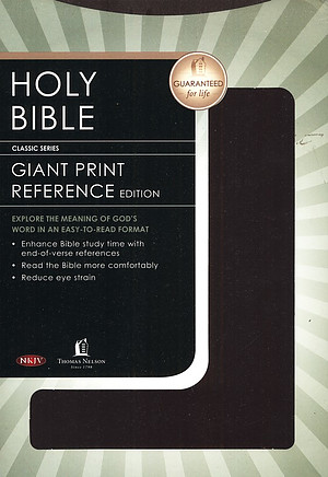 NKJV Giant Print Bible: Burgundy, Leather-like
