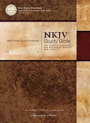 NKJV Study Bible: Hardback, Signature
