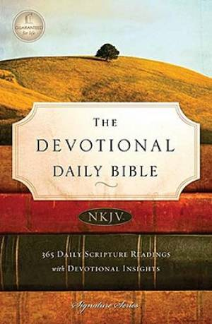 NKJV Devotional Daily Bible: Hardback