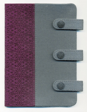 KJV Compact Ultraslim Bible: Grey / Plum, Fabric / LeatherLike