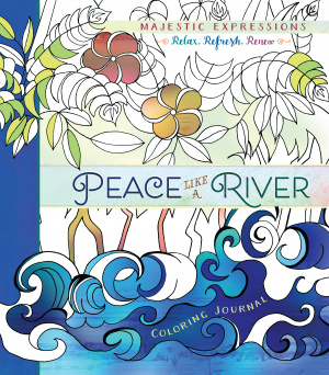 Adult Coloring Journal: Peace Like a River