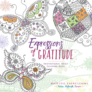 Adult Coloring Book: Expressions of Gratitude
