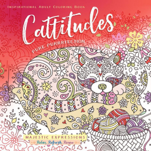 Cattitudes Adult Colouring Book