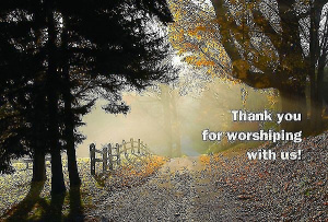 Thank You For Worshiping With Us Postcard (package Of 25)