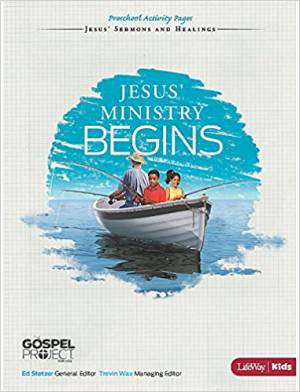 Jesus' Ministry Begins - Preschool Activity Pages