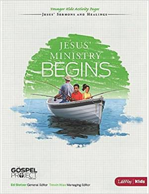 Jesus' Ministry Begins - Younger Kids Activity Pages