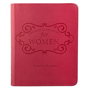 One-minute Devotions For Women-pinklux-leather