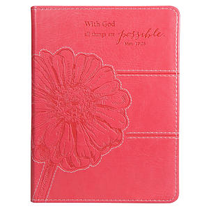 """All Things Are Possible"" (Pink) Flexcover Journal"