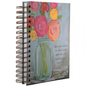 Petals of Praise/Rose Wirebound Journal
