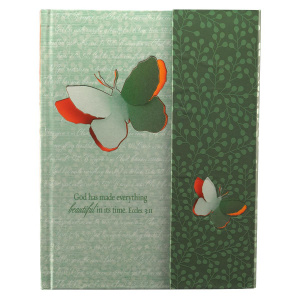 """Beautiful in its Time"" Hardcover Flap Journal"