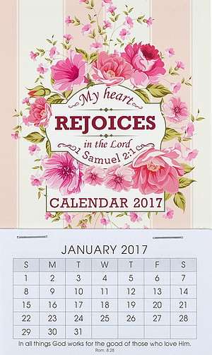 My Heart Rejoices Mini Magnetic Calendar 2017