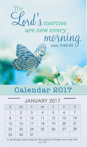 The Lord's Mercies Mini Magnetic Calendar 2017