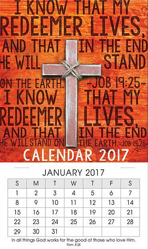 My Redeemer Lives Mini Magnetic Calendar 2017