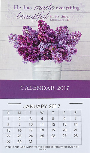 Beautiful Mini Magnetic Calendar 2017