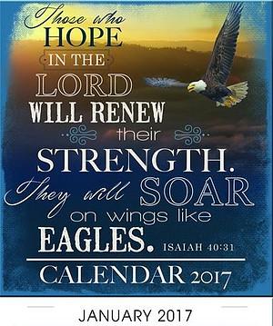 Eagles' Wings Mini Magnetic Calendar 2017