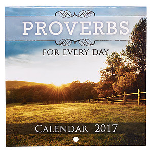Proverbs for Every Day Small Calendar 2017