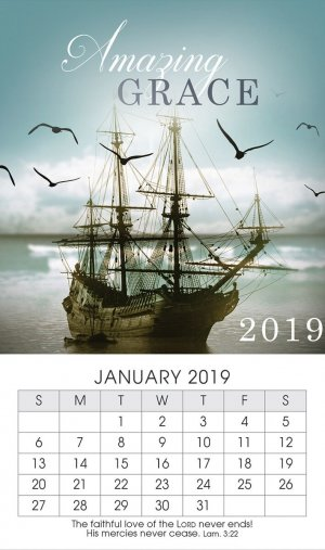 Amazing Grace 2019 Mini Magnetic Calendar