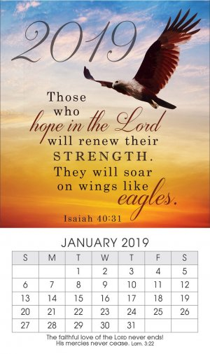 Soar on Eagles Wings 2019 Mini Magnetic Calendar