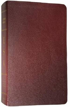 ESV Study Bible: Burgundy, Genuine Leather