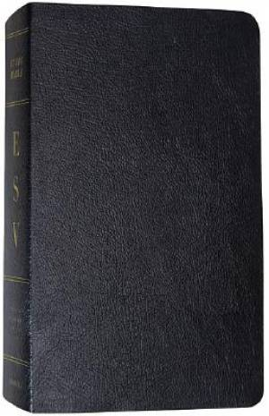 ESV Study Bible: Black, Genuine Leather