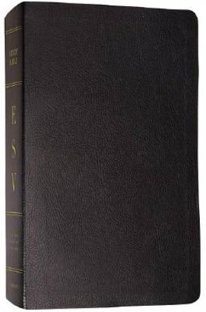 ESV Study Bible: Black, Bonded Leather