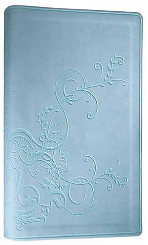 ESV Thinline Bible: SkyBlue, Ivy Design, TruTone