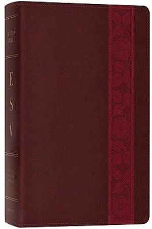 ESV Study Bible: Mahogany Trellis Design, TruTone Imitation Leather