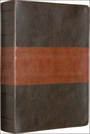 ESV Study Bible: Forest / Tan, Trail Design, TruTone