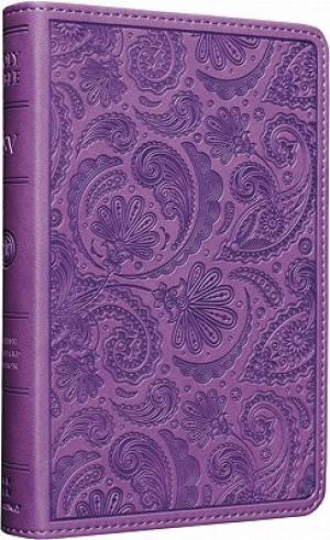 ESV Compact Bible: Purple, Paisley Design, TruTone