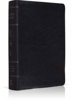 Esv Study Bible Black Leather