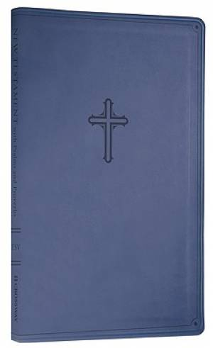 Compact New Testament with Psalms and Proverbs (TruTone, Navy Blue, Cross Design)