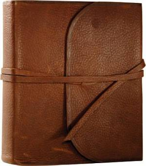 ESV Single Column Journaling Bible: Cowhide, BrownFlap with Strap