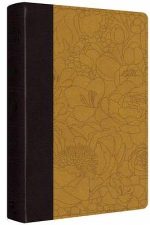 ESV Personal Reference Bible (TruTone, Coffee/Goldenrod, Bouquet Design)