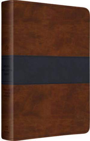 ESV Gospel Transformation Bible Brown / Navy Imitation Leather
