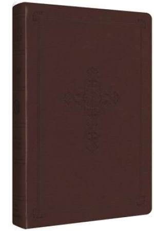 ESV Ultrathin Bible in Brown Imitation Leather with Cross