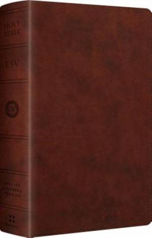 ESV Large Print Personal Size Chestnut Imitation Leather