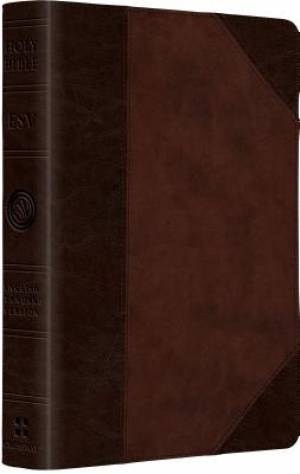 Esv Lp Comp Bible Trutone Brn Walnut Por